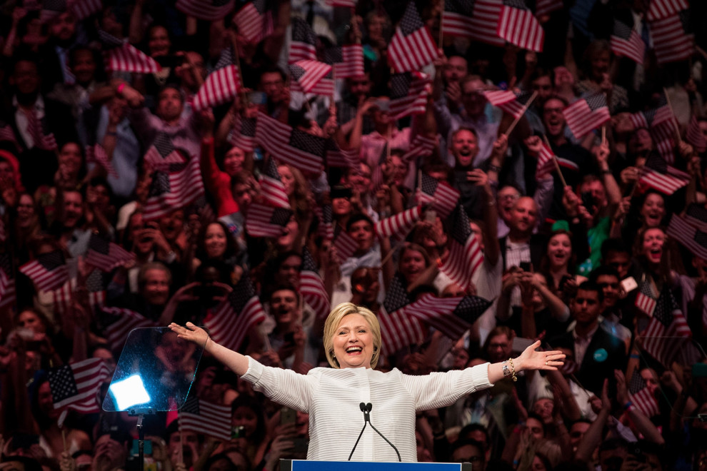 Tonight's victory is not about one person; it belongs to generations of women and men who struggled and sacrificed and made this moment possible, Clinton said.