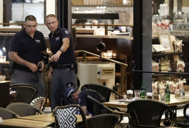 The shooting was at the Sarona Market, a collection of restaurants and shops popular with young people.