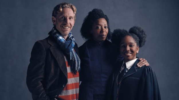 The first look at Ron Weasley, Hermione Granger, and Rose Granger-Weasley in Harry Potter and the Cursed Child.