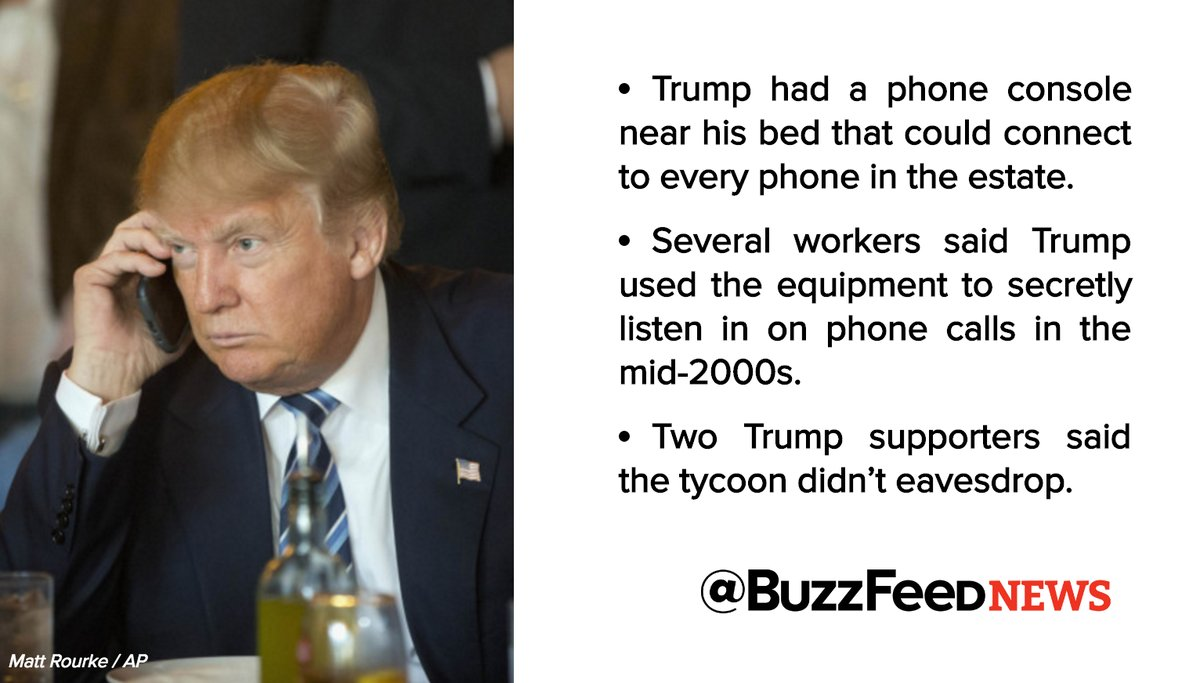 At Mar-a-Lago, the Palm Beach resort he runs as a club for paying guests and celebrities, Trump had a telephone console installed in his bedroom that acted like a switchboard, connecting to every phone extension on the estate, according to six former workers