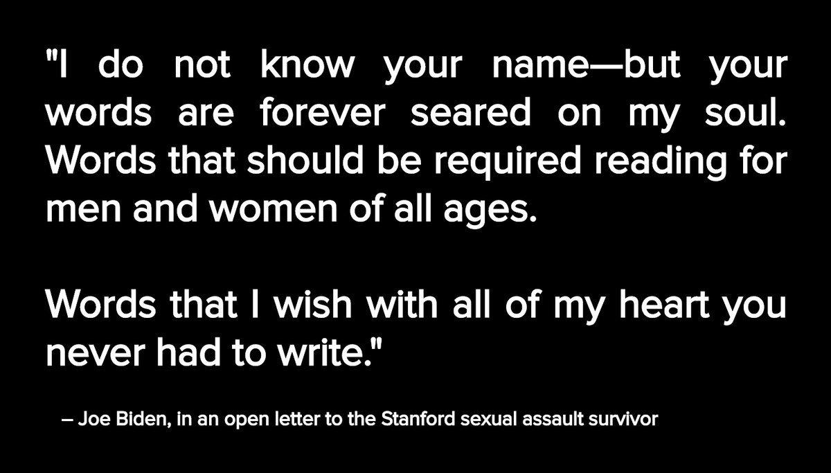 Joe Biden wrote an open letter to the Stanford survivor.