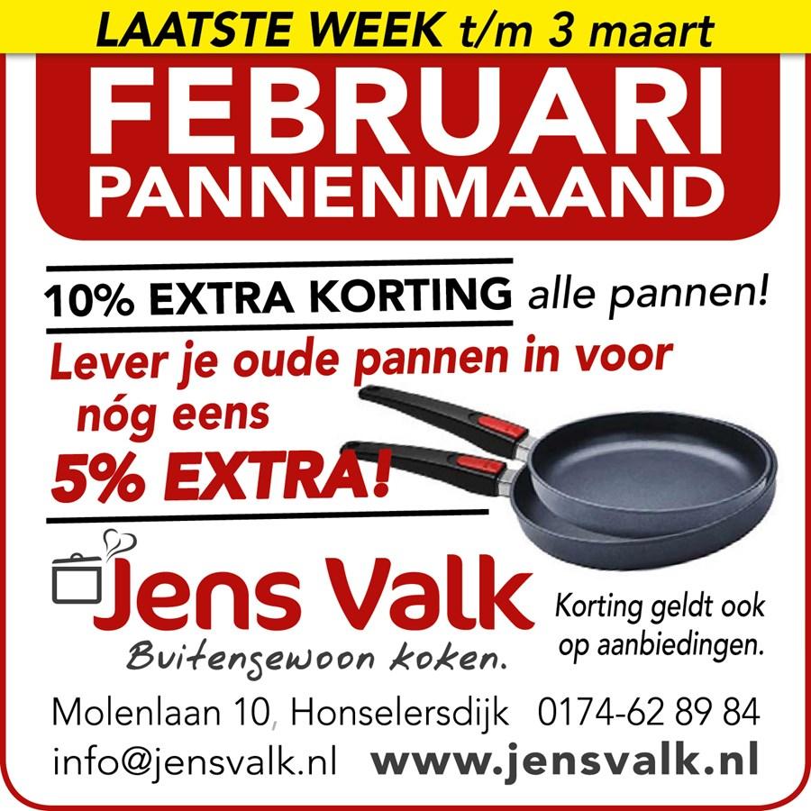 Februari Pannenmaand Jens Valk Buitengewoon koken.