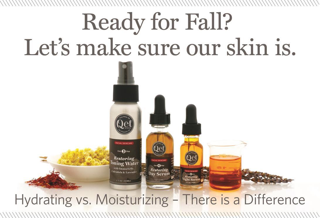 Qēt Botanicals fall moisturizing skincare products