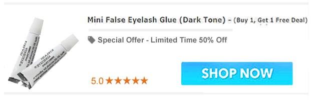 Mini False Eyelash Glue (Dark Tone)  - BOGO (Buy 1, Get 1 Free Deal)